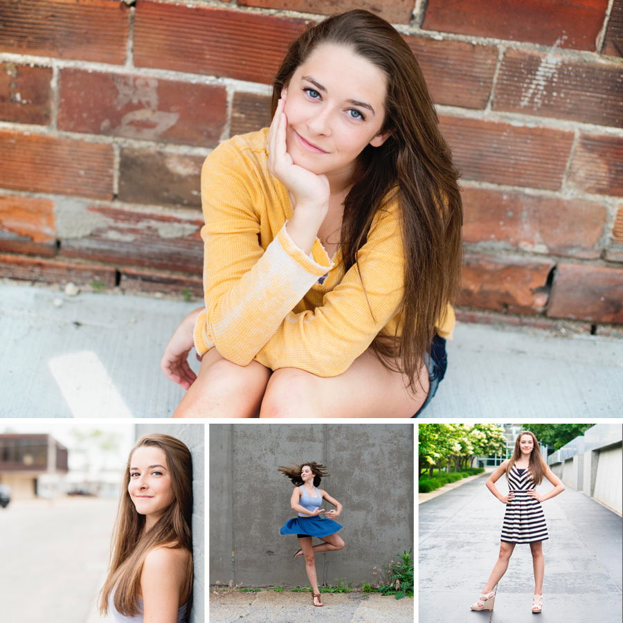 Senior Pictures. Downtown Des Moines, IA. Crystal Newcomb Creative Studios.