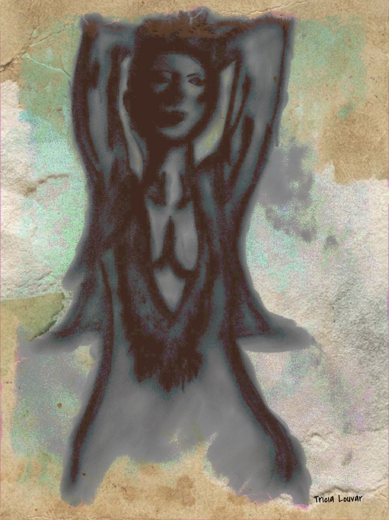 Dorothea Tanning Drinks Paint and Poetry to Be Eternal . Mixed media.