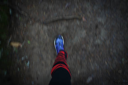 Sometimes leg warmers help get the job done when on the forest trail.