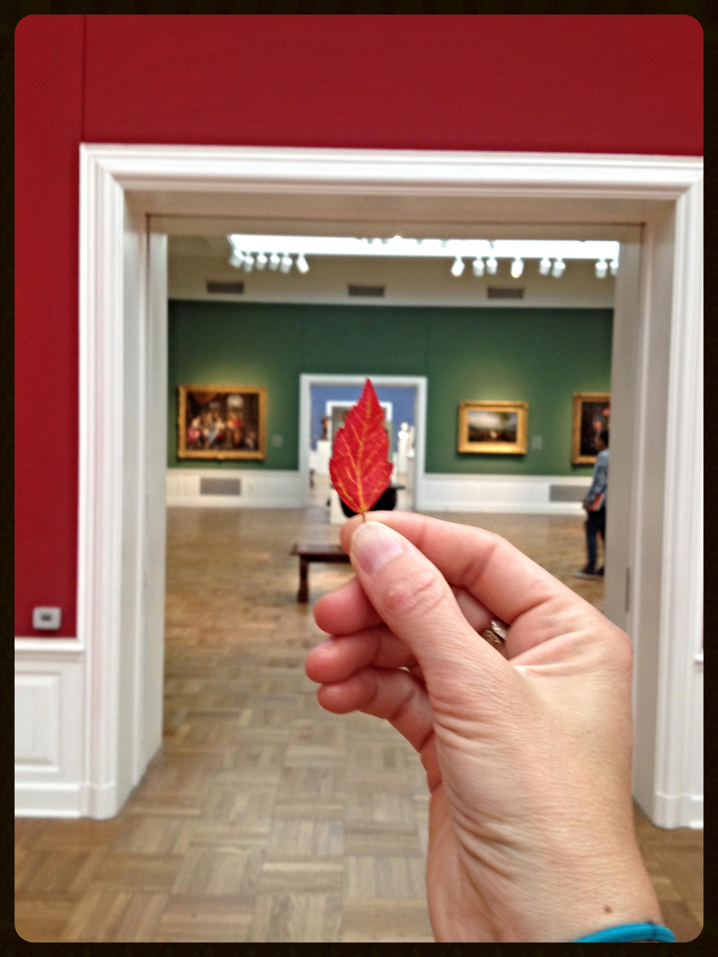 Orphan red leaf views 18th century European art