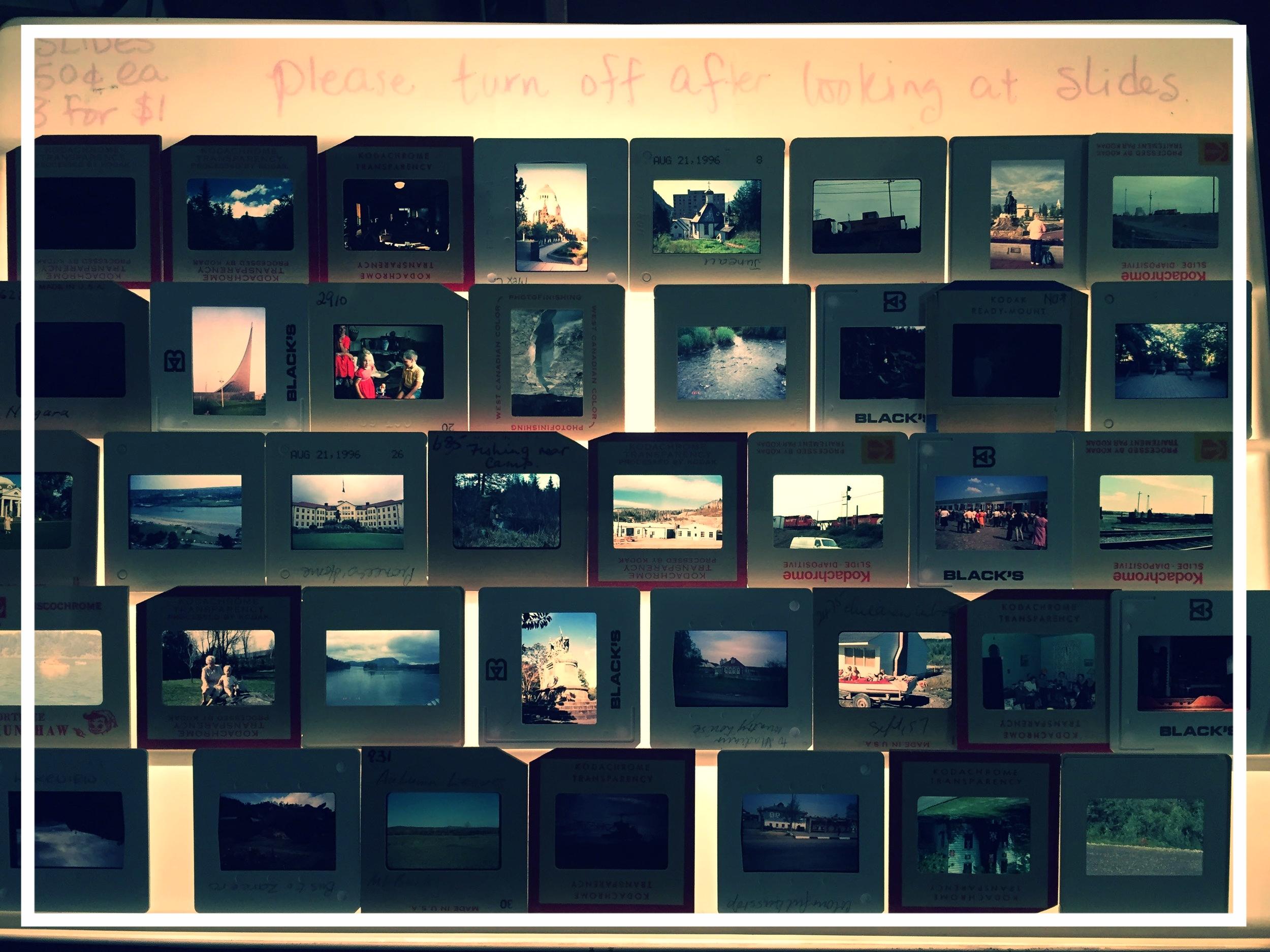 I took this photograph in the basement of a wacky thrift store in Vancouver, BC. O where will my slide film photographs end up when I am dead and gone?
