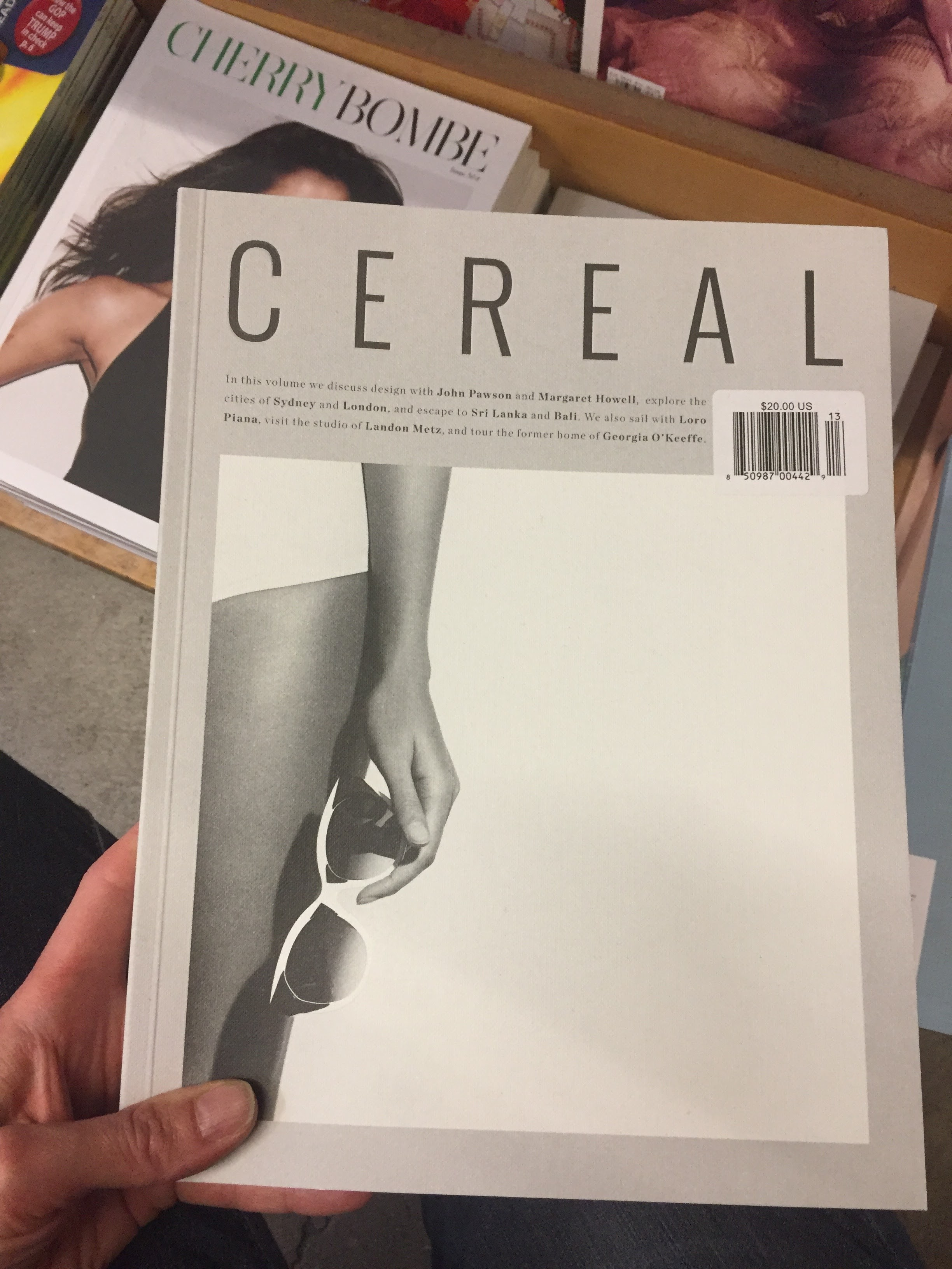 I dislike - cereal but this isn't about the soggy-factor and milk. I took an image like this year's ago, so I think, aesthetically, I'm on the same page as the creative director. Trying it.