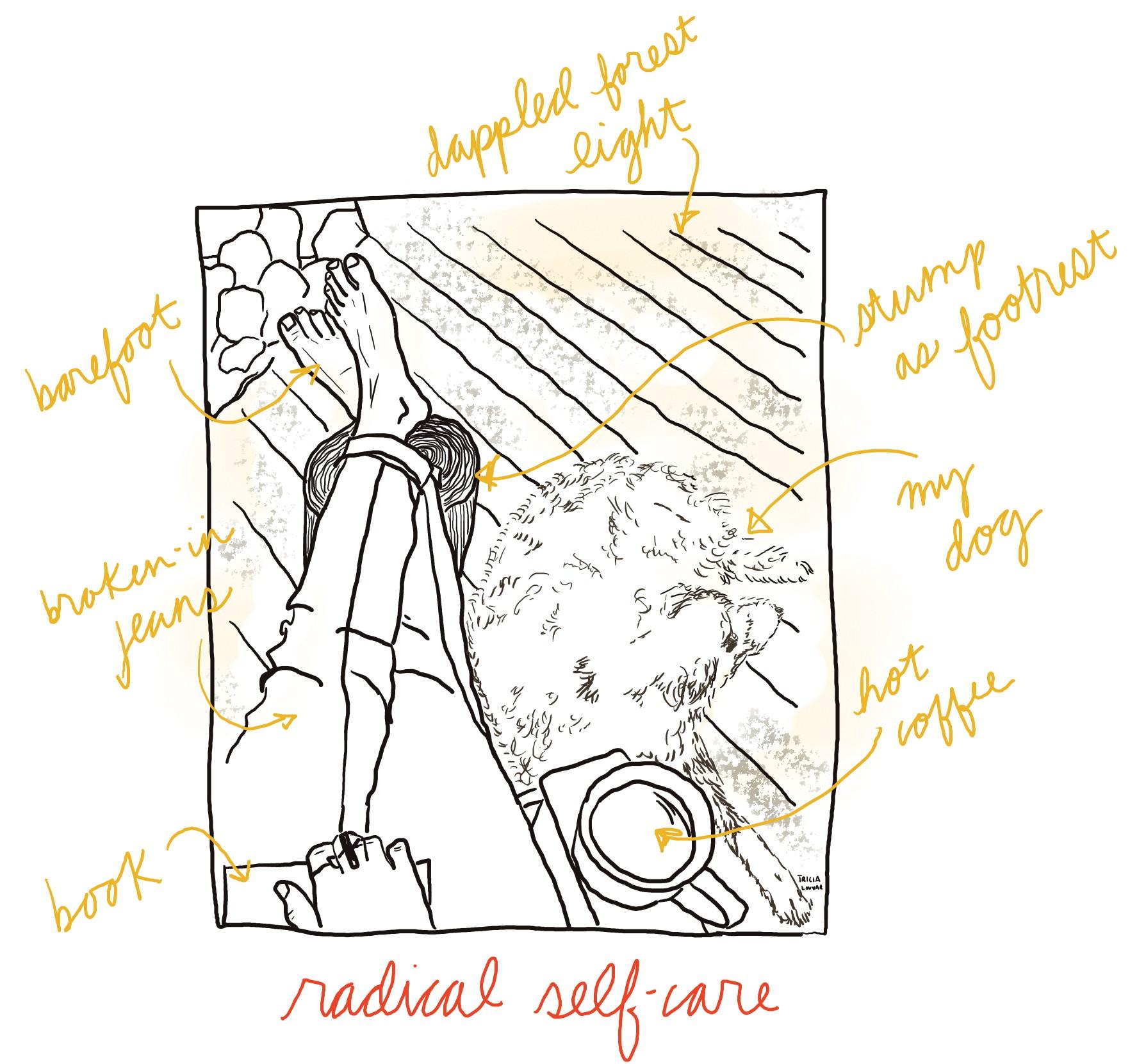 radical self-care: one scene. 2019