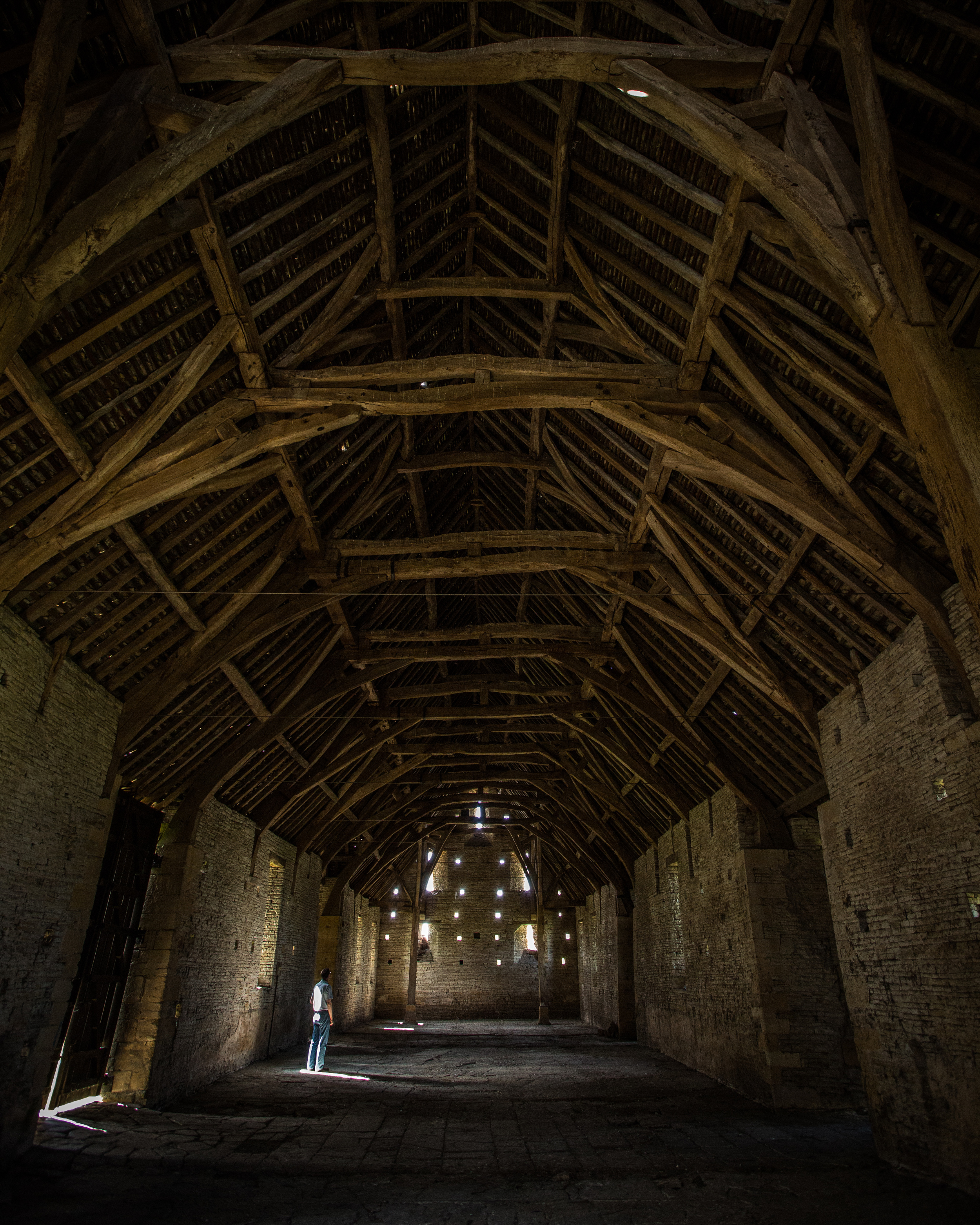 Middle Littleton Tithe Barn in Worcestershire.