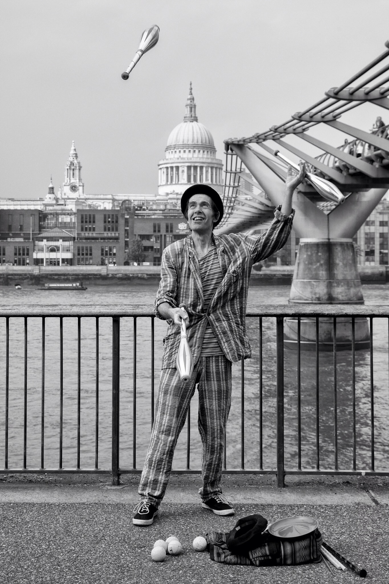 Another London street performer, this time beside the Millennium Bridge.  This chap was an absolute joy to photograph.