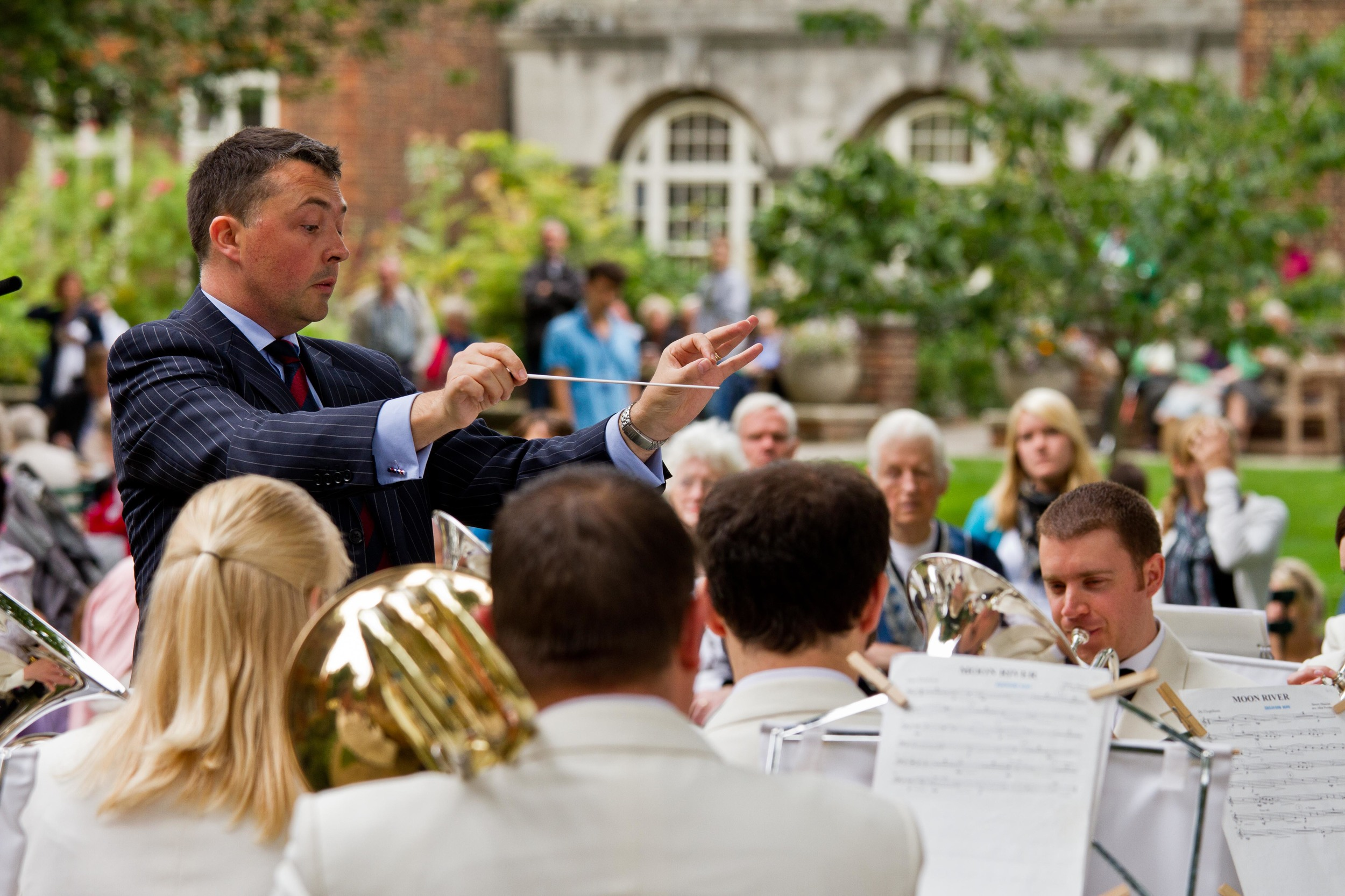 Concert in the gardens of Westminster Abbey