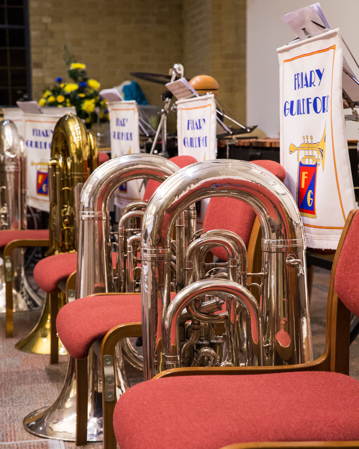 I wonder what the collective noun for tubas is.....