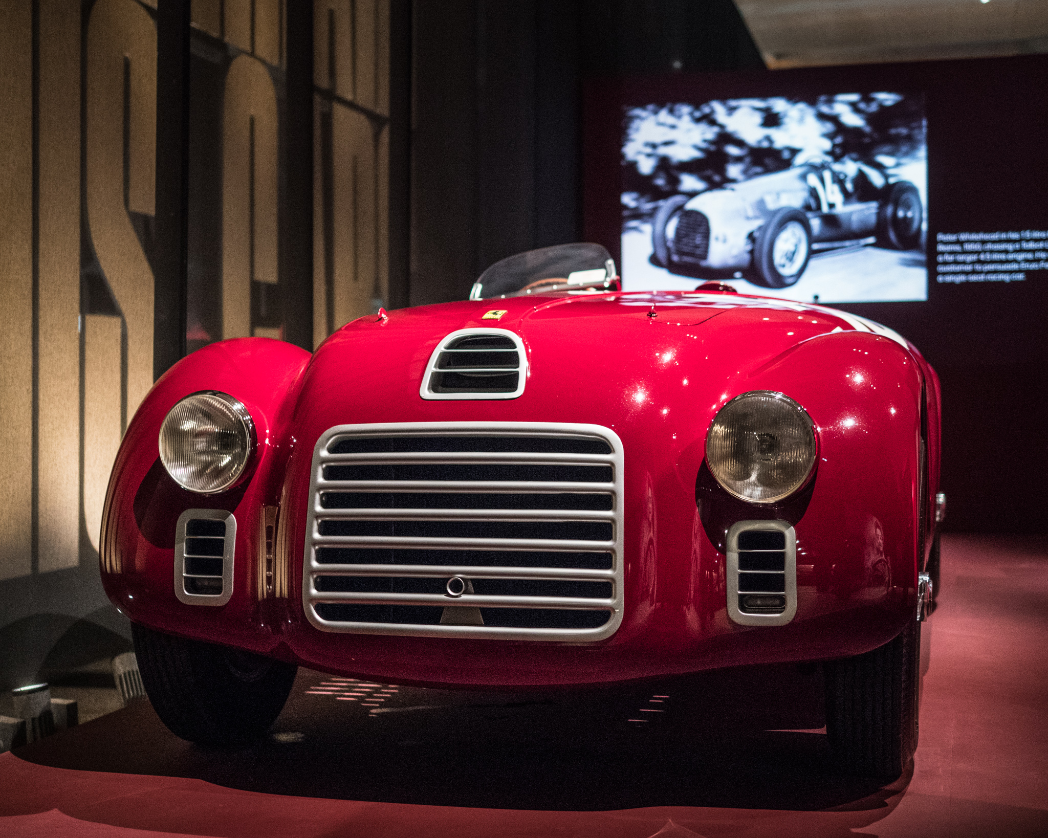 The first car design to feature the Ferrari prancing horse on its badge