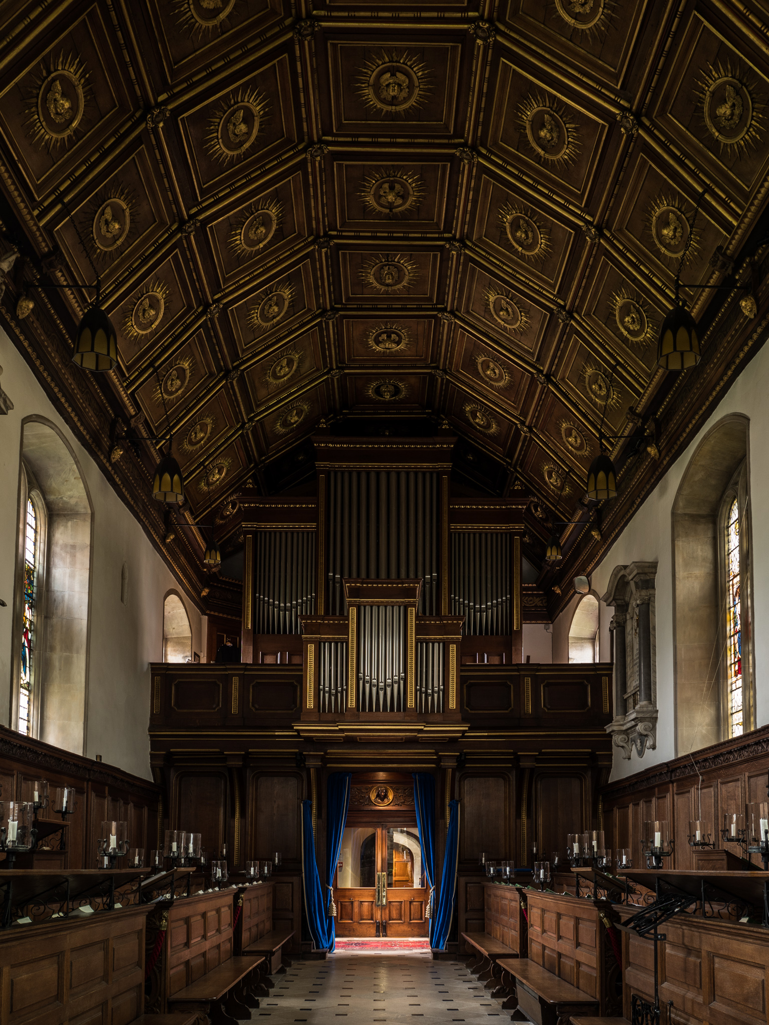 The interior of Gonville and Caius College Chapel