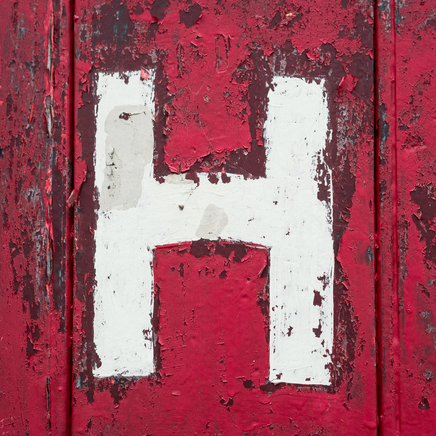 How could I resist wonderful textures like these on the door of the old fire house?