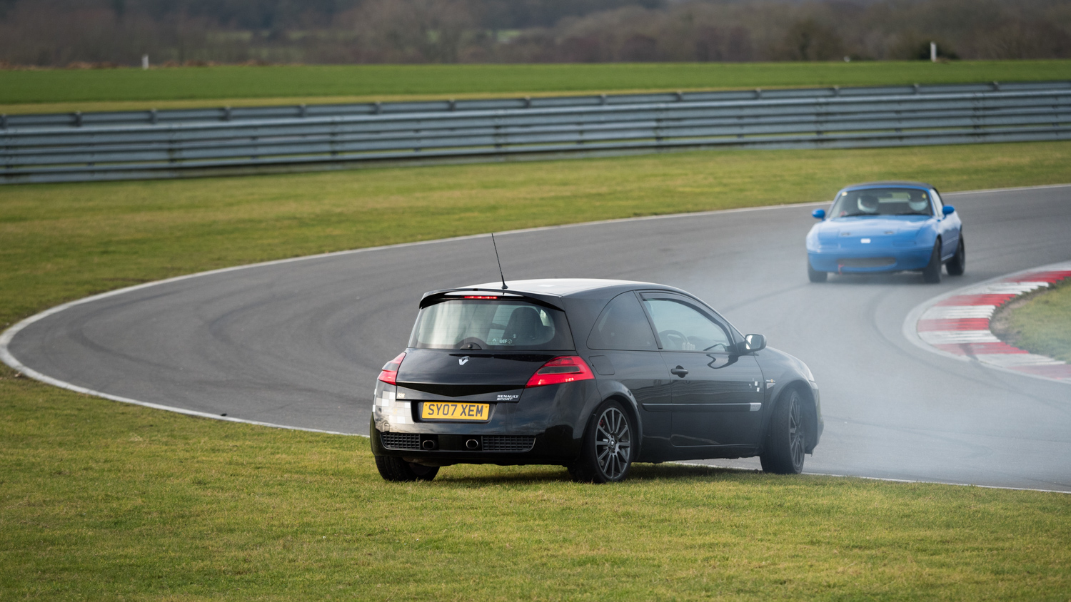 This spinning car at Snetterton was one of a string of 28 frames I shot when things began to go wrong. Of the 28 shots there were only three which missed sharp focus.
