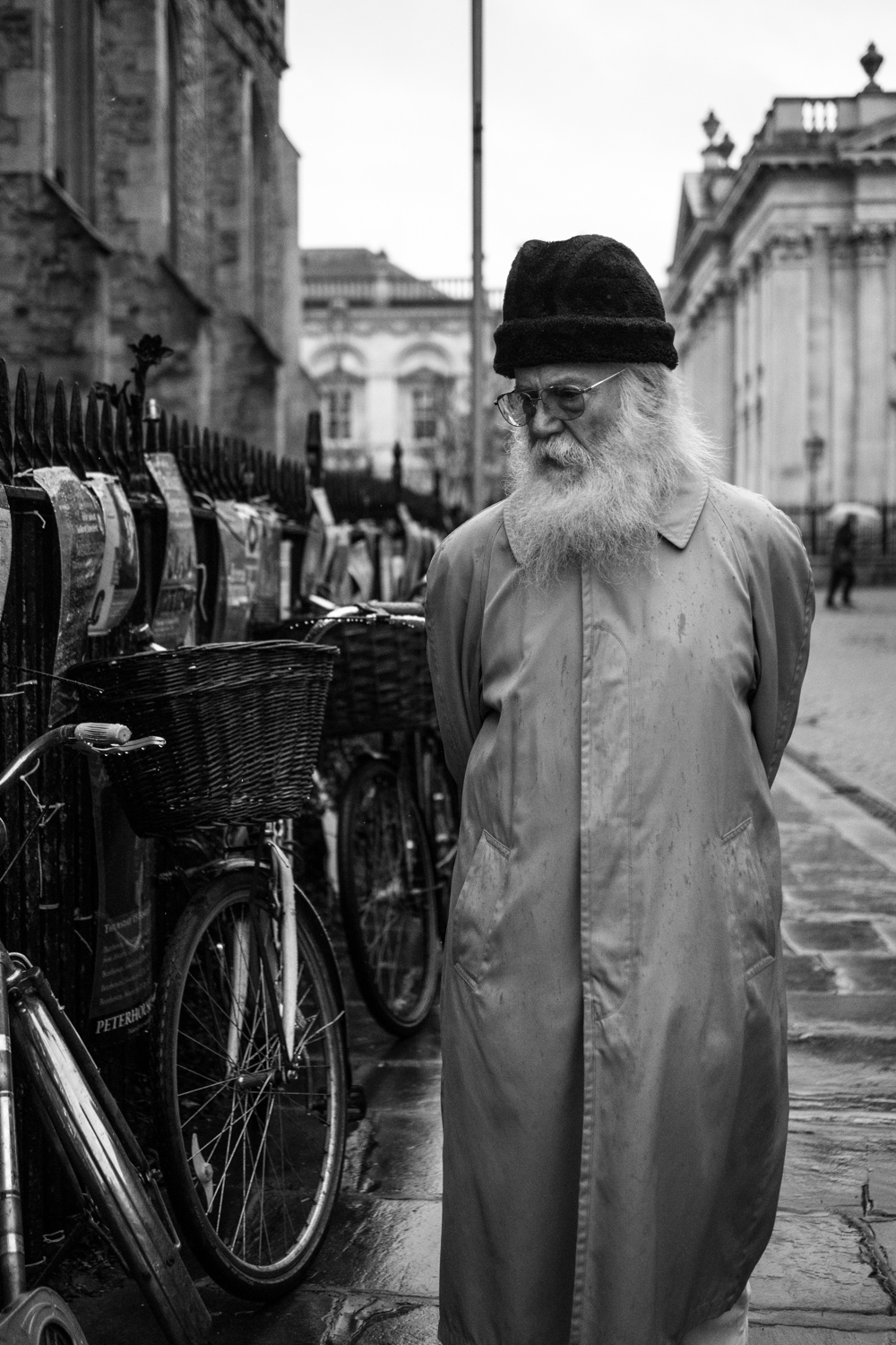 A candid moment caught on the streets of Cambridge