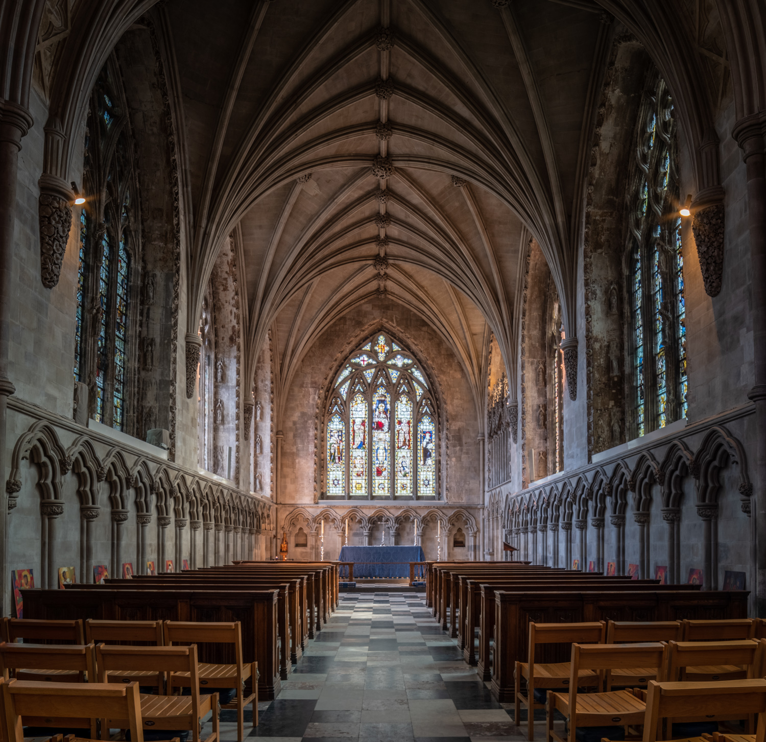 The Lady Chapel at St. Albans Cathedral, shot using my budget shift lens