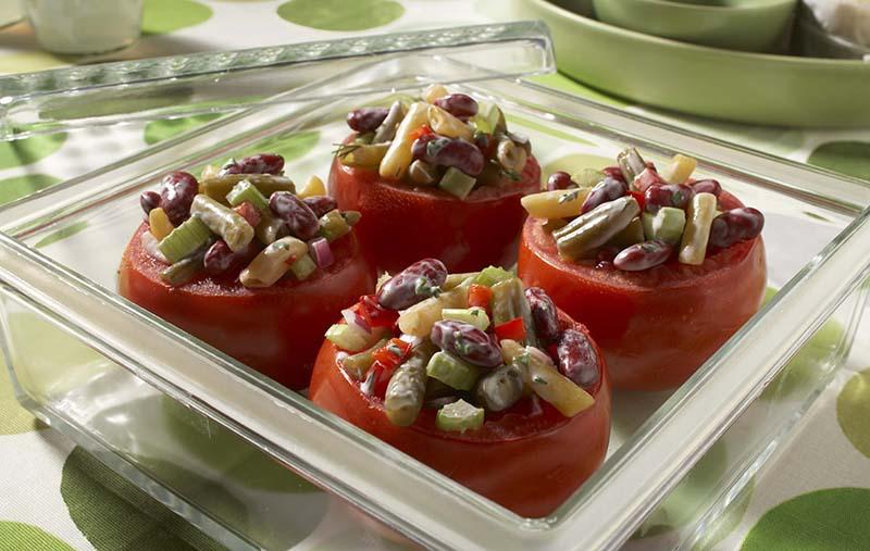 Bean Salad Stuffed Tomatoes