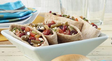 Mediterranean Bean & Pita-Wiches