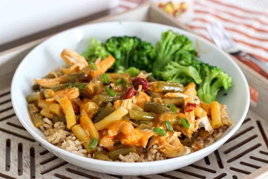 Chicken & 4 Bean Red Curry