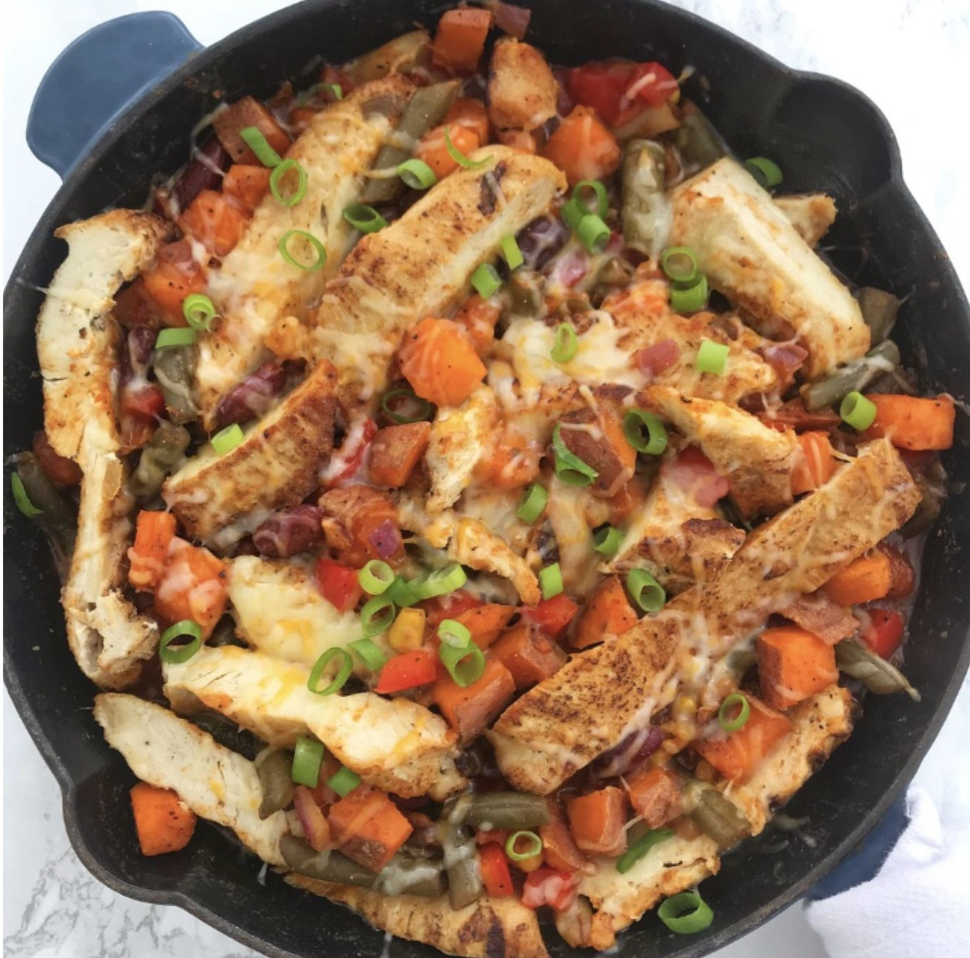 Southwest 3 Bean & Chicken One Pan Dinner