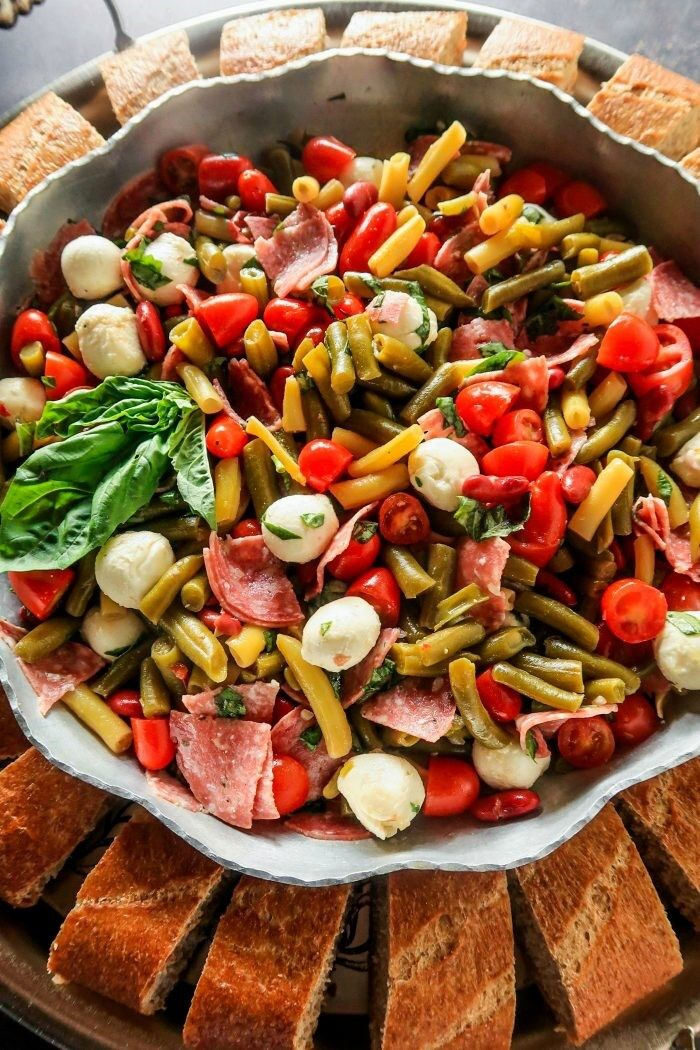 Caprese 3 Bean and Salami Salad