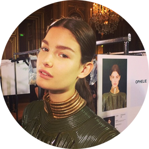 Regram from Tom Pecheux - Ophelie Guillermand at Balmain