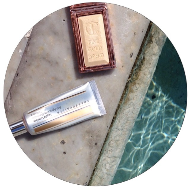Charlotte Tilbury's bar of Gold and Chantecaille Liquid Lumiere
