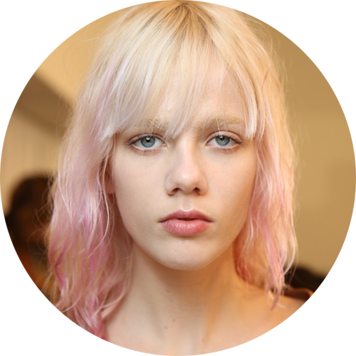 gucci-fall 2015 - backstage - pink hair - image via wwd.png