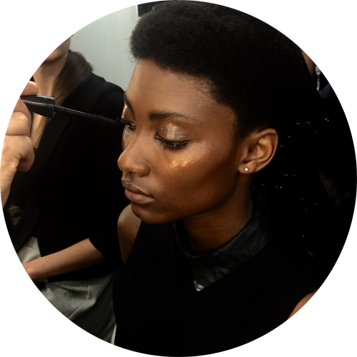 Next Generation Dayse Cottini Fall 2015 beauty look by michele magnani for mac cosmetics and hairstyle by testanera