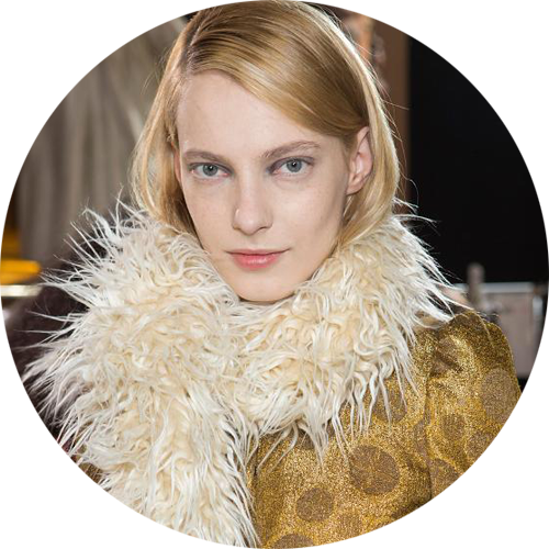 Dries Van Noten beauty look fall 2015Peter Philips makeup