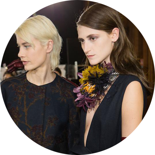 Dries Van Noten Fall 2015 beauty look makeup by Peter Philips
