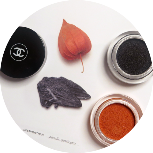 ILLUSION D'OMBRE in Rouge-Gorge, a rusty copper and Fleur de Pierre and intense and sparking grey