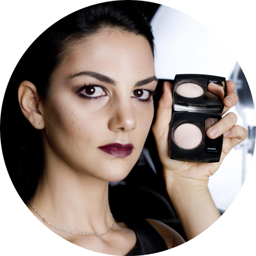 How to - tutorial gif chanel rouge noir absolument strobing with Joues Contraste Lumiere Highlighting Blush in Coup de Minuit