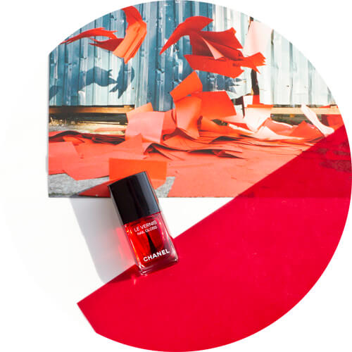 Chanel Le Vernis Gloss in Rouge Radical from Le Rouge - Collection Nº1 by Lucia Pica