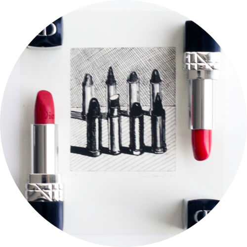 Rouge Dior lipstick in 999 matte and satin red