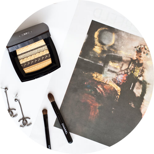 Les Ombres Lamée de Chanel eyeshadow palette gold and brown
