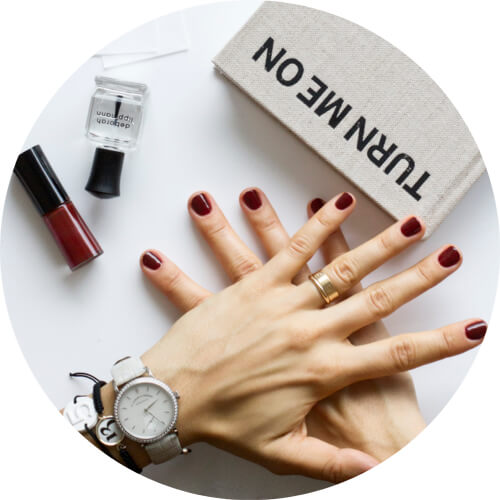 The best fall nail polish - Giorgio Armani Beauty Nail Lacquer 202 Sepia Collection - Deborah Lippmann Hard Rock base and top coat.