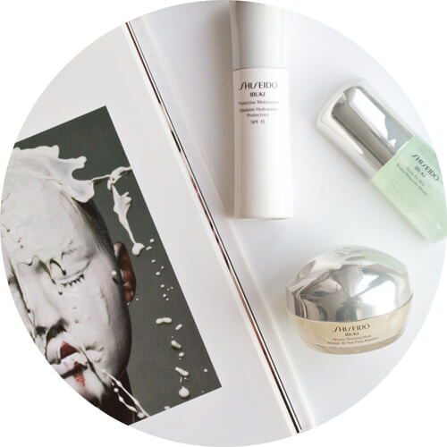 Shiseido Ibuki  Beauty Sleeping Mask ,  Quick Fix Mist , Protective Moisturizer SPF 15