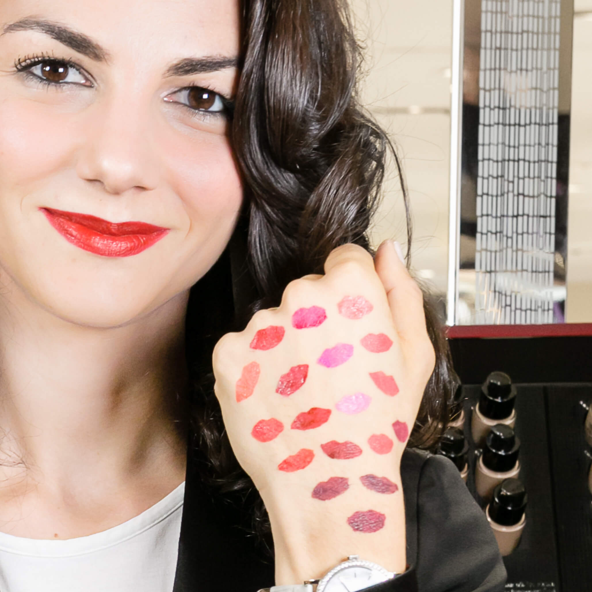 giorgio armani beauty lip magnet swatches