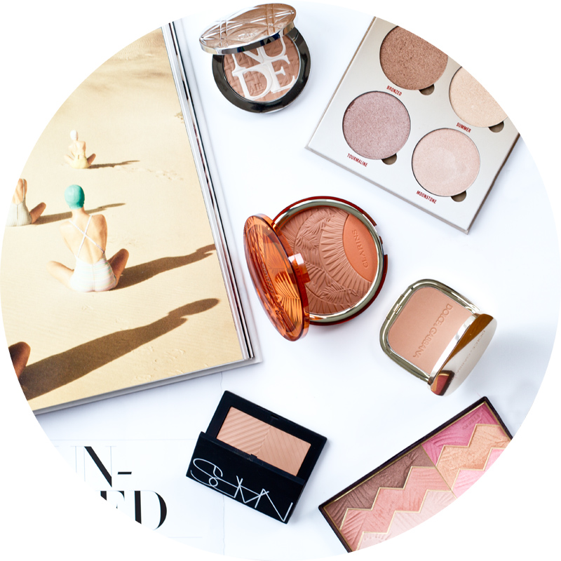 Best Bronzers of Summer 2017 : Diorskin Nude Air Care & Dare Protecting Glow Powder; Glow Kit in Sun Dipped di Anastasia; Clarins's Poudre Soleil & Blush; The Bronzer Dolce&Gabbana Beauty; NARS Sun Wash Diffusing Bronzer in Laguna; by Terry Sun Designer Palette in Savannah Love