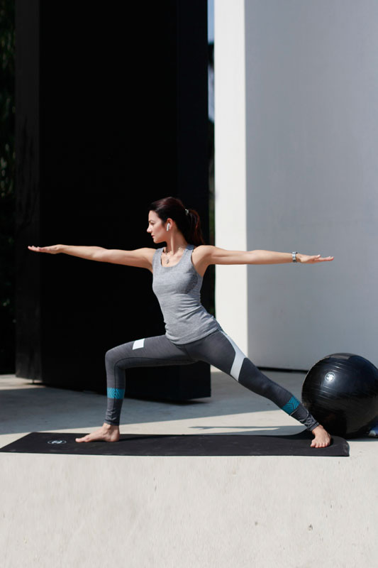 Warrior 2: works as external hip opener and opens up the inner thighs and groin