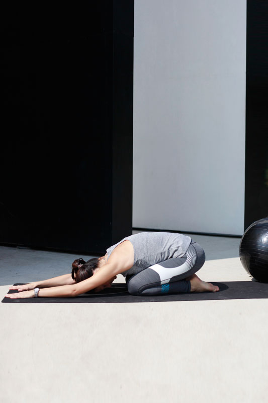 Child's pose:the best way to take a mental break and stress/tension relief.