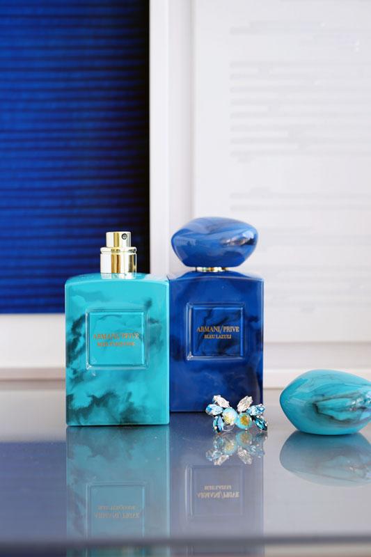 Armani Prive Bleu Turquoise  and  Bleu Lazuli