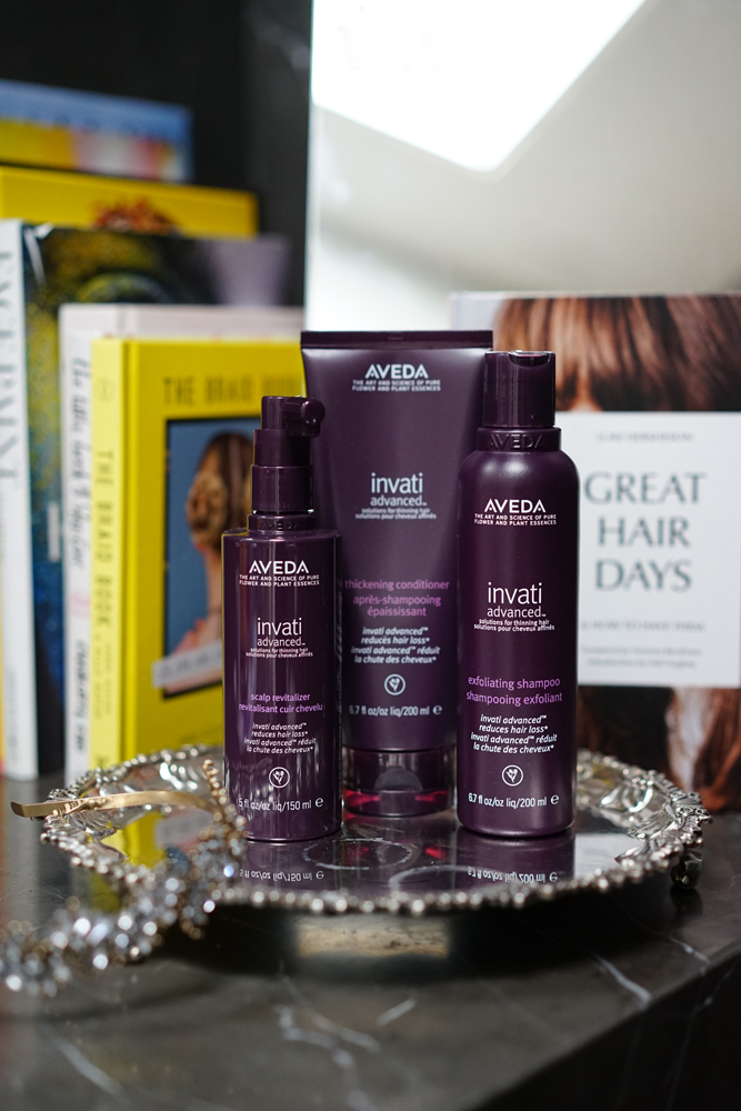 Invati Advanced™ Scalp Revitalizer - Invati Advanced™ Thickening Conditioner - Invati Advanced™ Exfoliating Shampoo.