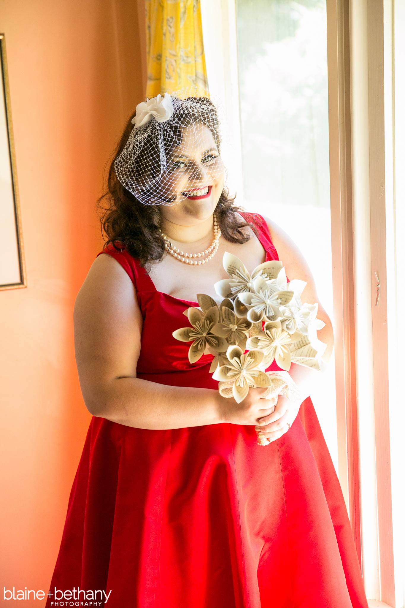 Red Lip Bride (Portland Wedding)