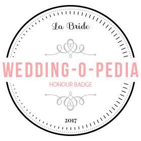 La Bride - Wedding-O-Pedia Honor Badge 2017