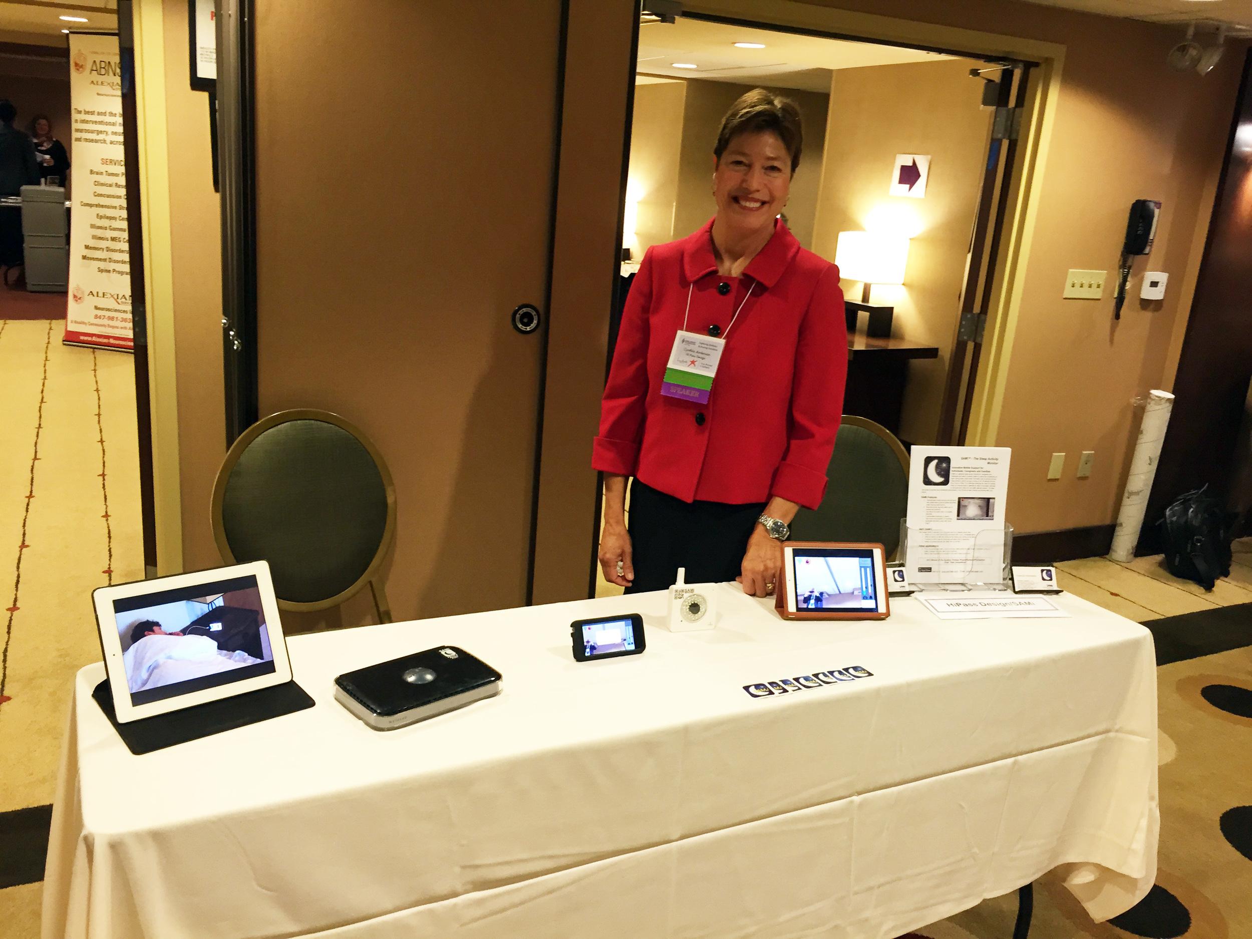 Cynthia Anderson at the SAMI table