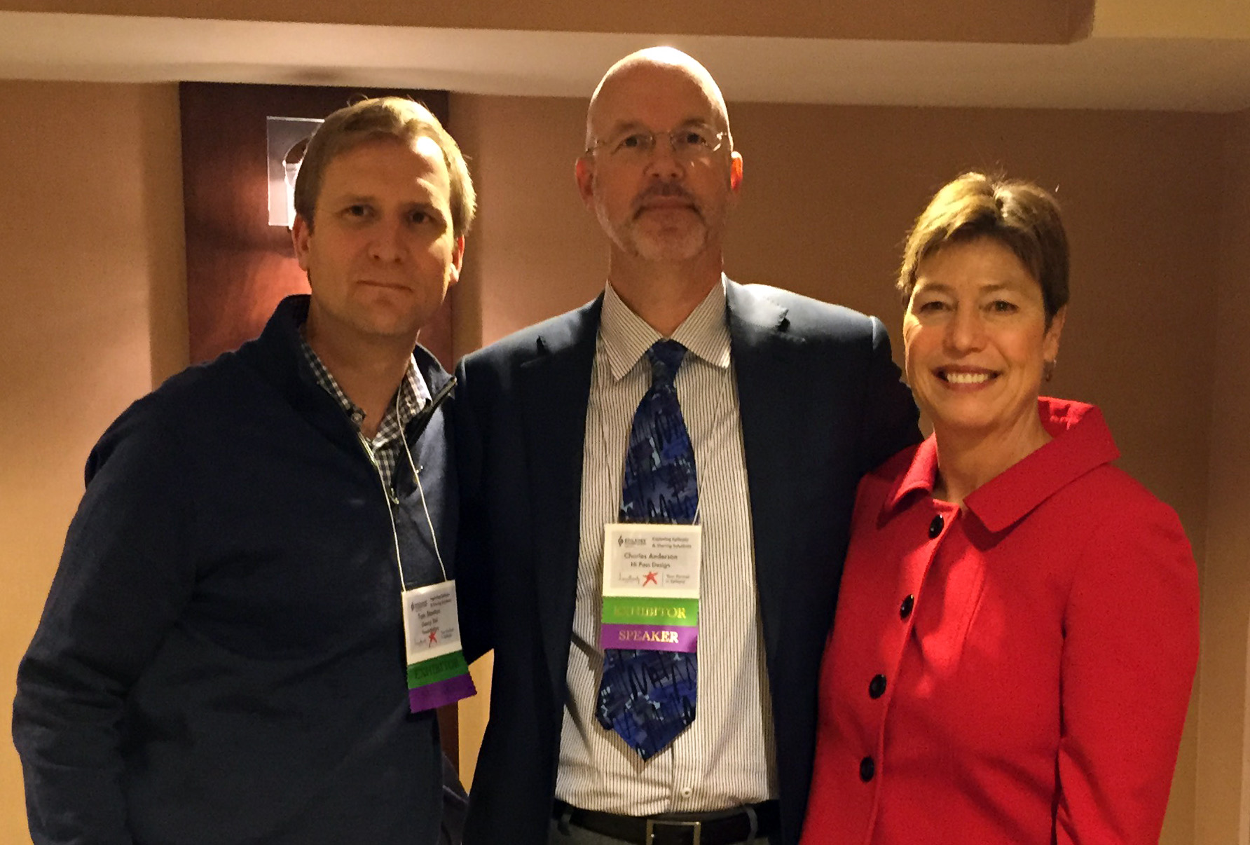 Tom Stanton, Charles Anderson, and Cynthia Anderson
