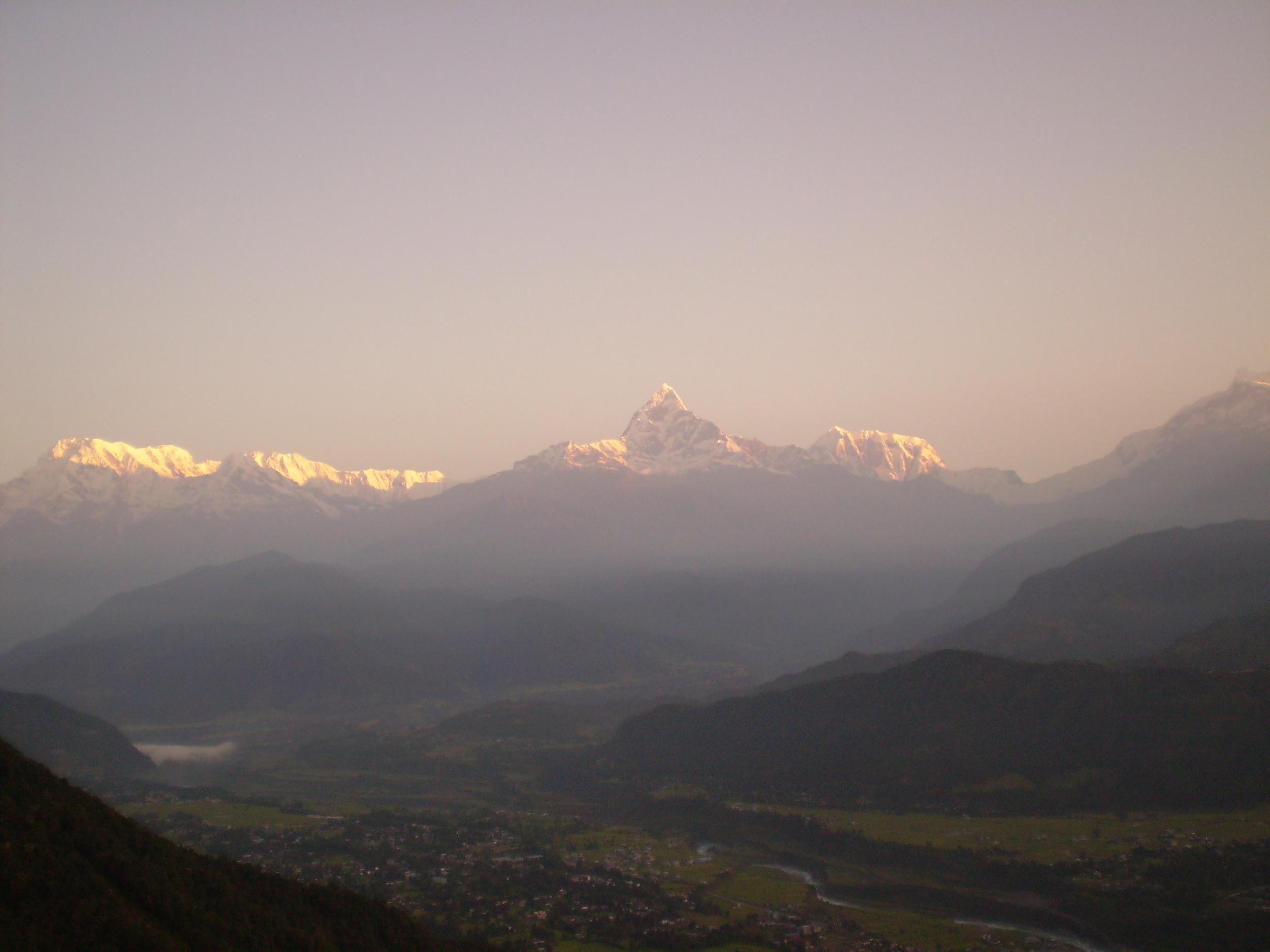 Levé du jour sur l'Anapurna ©Olga Chiappini