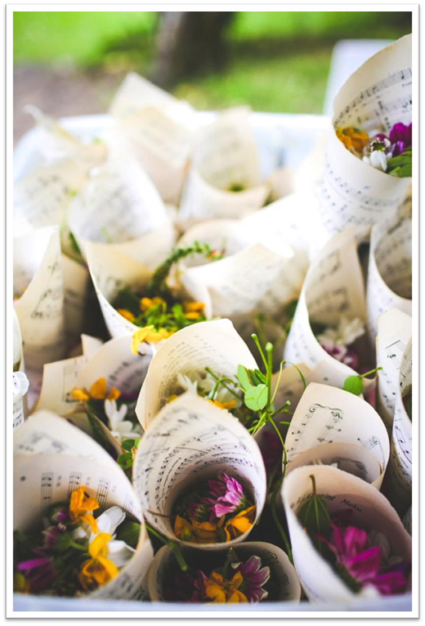 { Via } flower petals are a colorful (and beautiful!) option