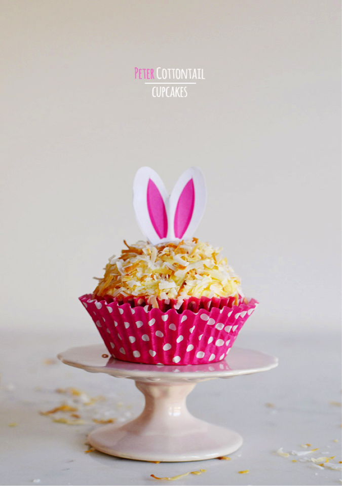 How adorable are these coconut cupcakes from  Waiting on Martha ? Not only are they easy to make, they are  delicious