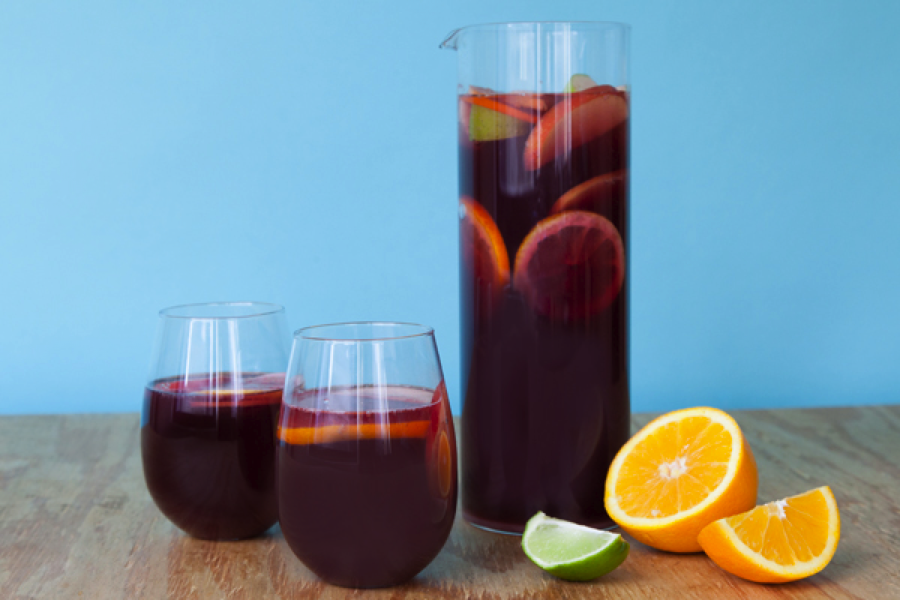 A warm weather classic, you can never go wrong with sangria { click here for recipe }