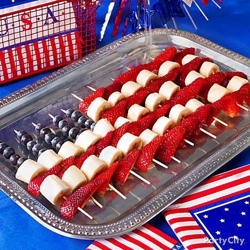 {Via}  This patriotic fruit flag is one of the easiest snacks to make and its a healthier option than most.